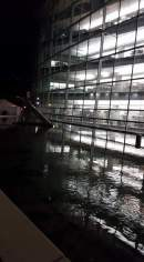 Outside the Library at night!